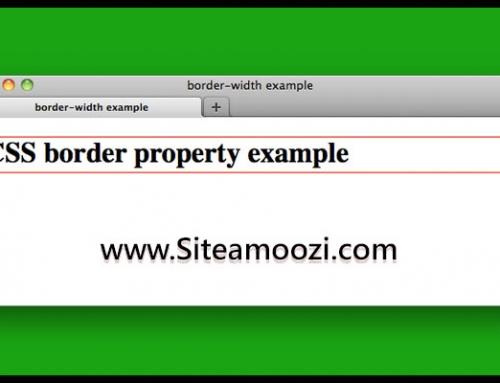 ویژگی border در CSS بخش دوم