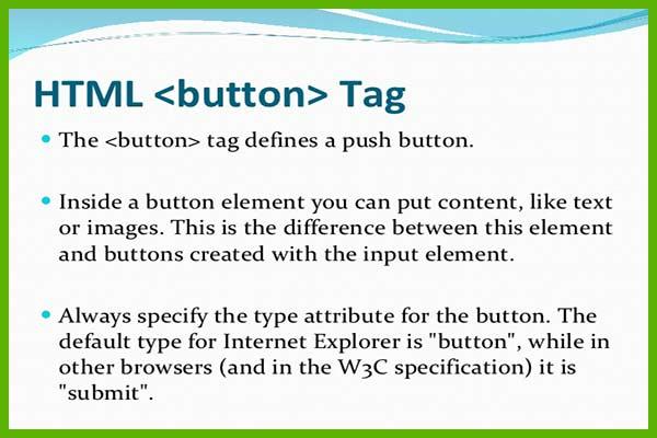 تگ button در HTML5 بخش اول | خصوصیت type | ساخت دکمه در HTML5