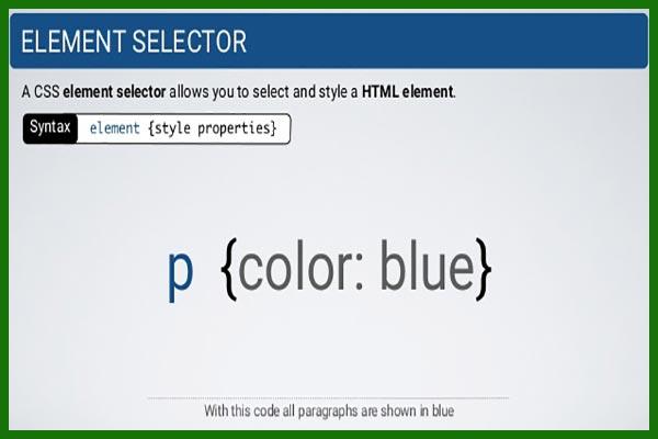 سلکتور های css بخش اول | تعریف سلکتور | انتخابگر | سلکتور Selector-x