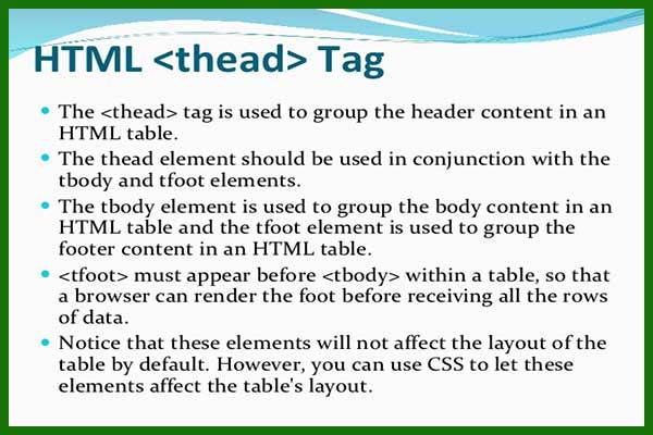 تگ table و تگ های ساخت جدول در HTML | جدول تو در تو html | ایجاد جدول