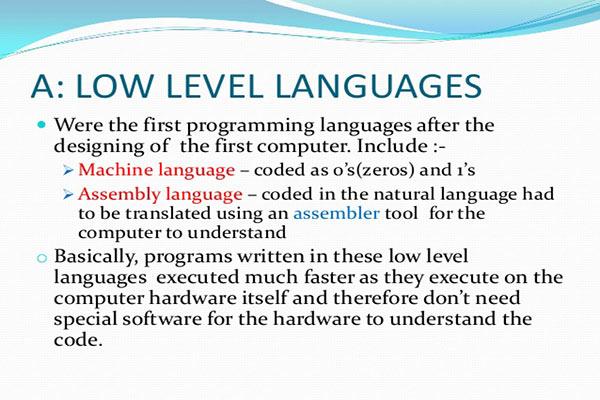 زبان برنامه نویسی سطح پایین