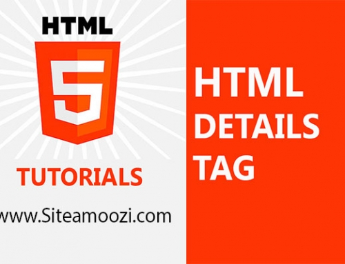 تگ details در HTML