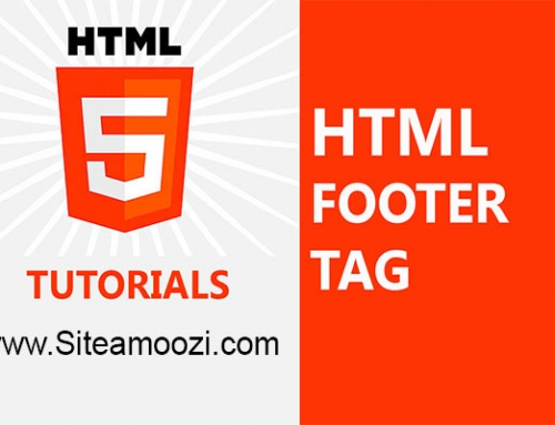 معرفی و کاربرد تگ footer در HTML