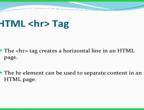 معرفی و کاربرد تگ hr در HTML
