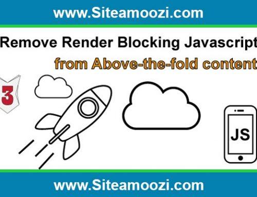 رفع خطای remove render-blocking javascript