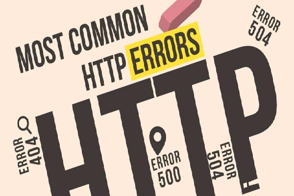 معرفی رایج ترین خطاهای HTTP | خطای HTTP | خطا سمت سرور | کد وضعیت