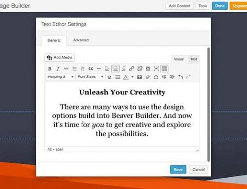 افزونه صفحه ساز Beaver Builder در وردپرس