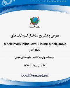 کتاب آموزش HTML نحوه نمایش تگ ها طراحی وبسایت